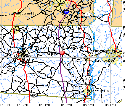 Richburg, SC map