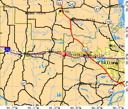 Foristell, MO map