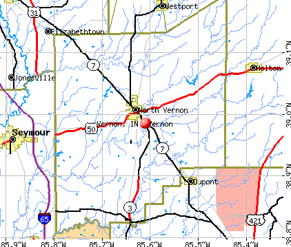 Vernon, IN map