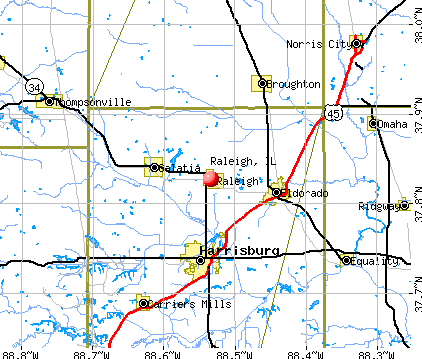 Raleigh, IL map