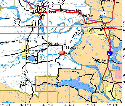 Bigelow, AR map