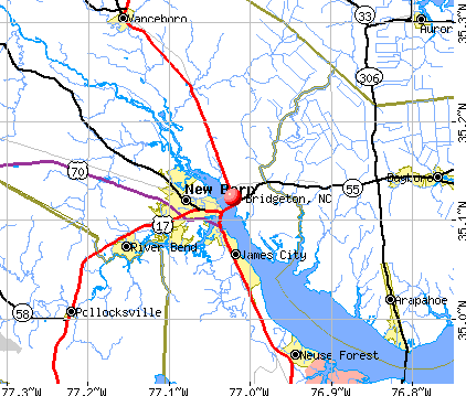 Bridgeton, NC map