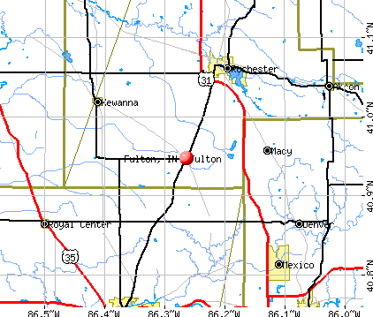 Fulton, IN map