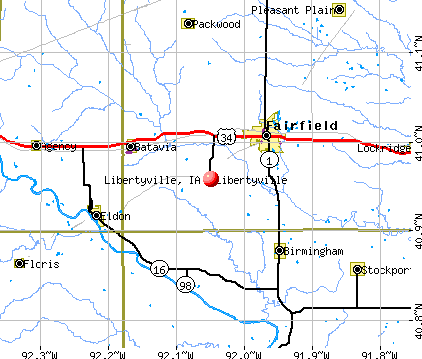 Libertyville, IA map