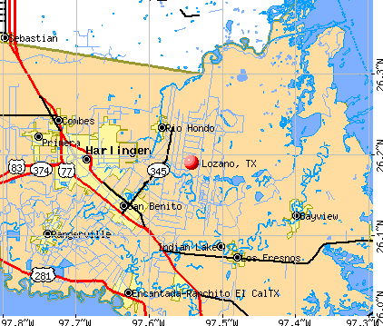 Lozano, TX map