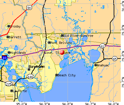 Cove, TX map