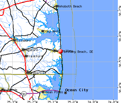 Bethany Beach, DE map