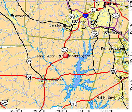 Fearrington, NC map