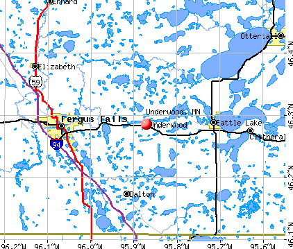 Underwood, MN map