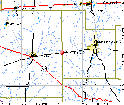 Glenwood, IN map