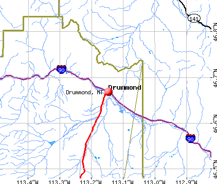 Drummond, MT map