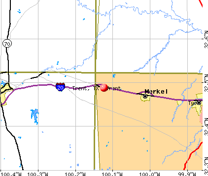 Trent, TX map