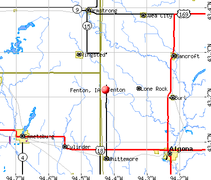 Fenton, IA map