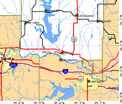 Perry, KS map