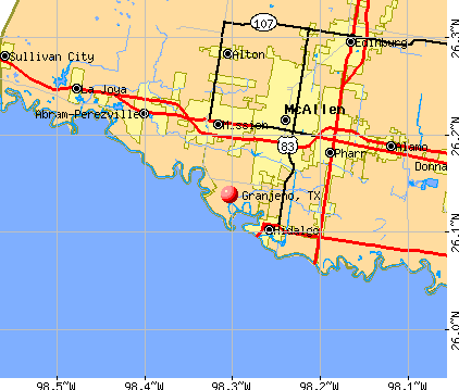 Granjeno, TX map