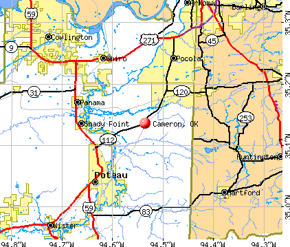 Cameron, OK map