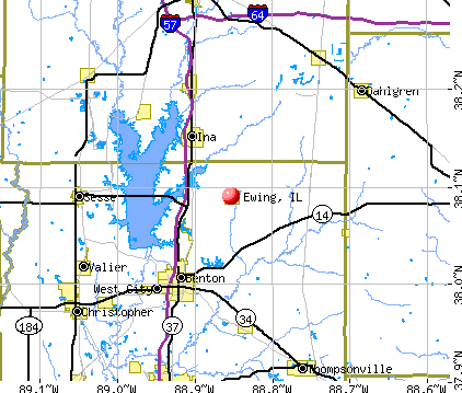 Ewing, IL map