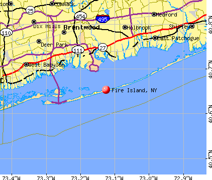 Fire Island, NY map