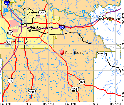 Pike Road, AL map