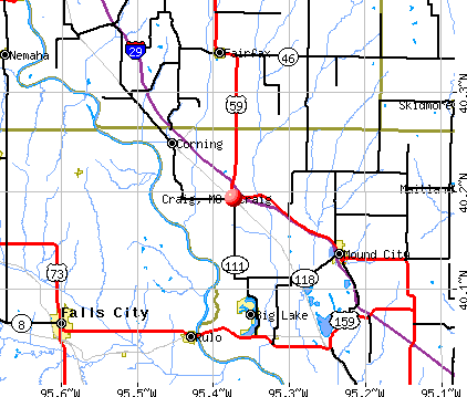 Craig, MO map