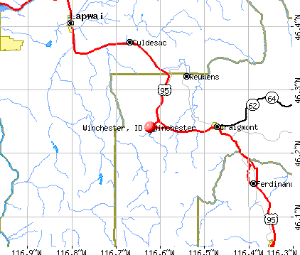 Winchester, ID map
