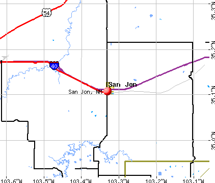 San Jon, NM map