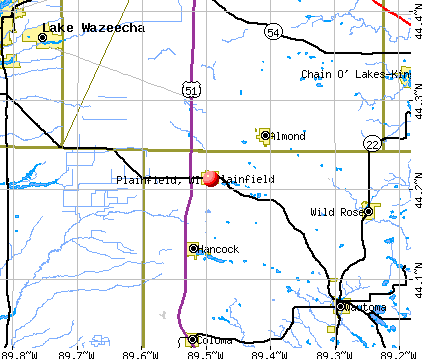 Plainfield, WI map
