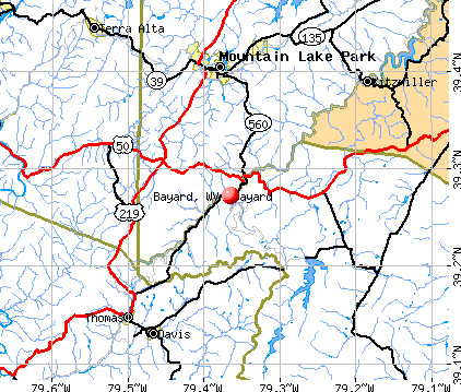 Bayard, WV map