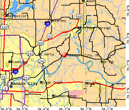 Missouri City, MO map