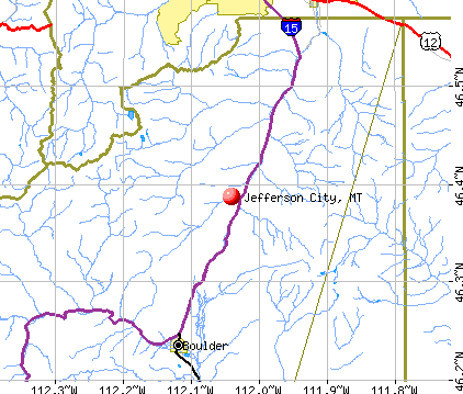 Jefferson City, MT map