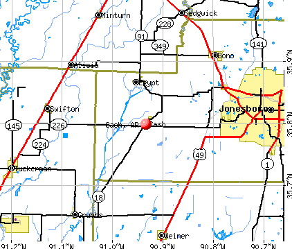 Cash, AR map