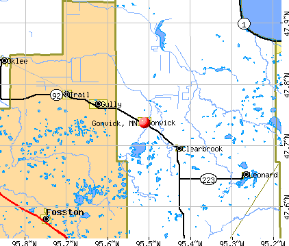 Gonvick, MN map