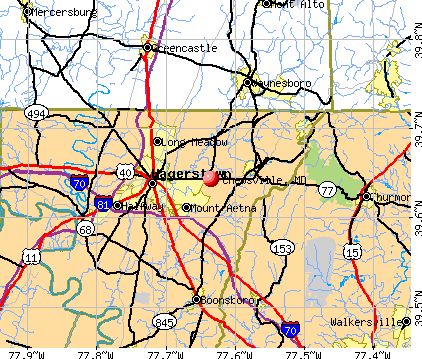 Chewsville, MD map