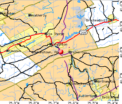 Bowmanstown, PA map