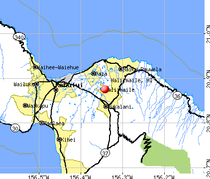 Haliimaile, HI map