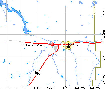 Beaver Creek, MT map
