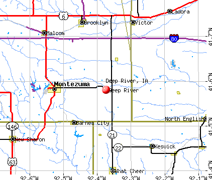 Deep River, IA map