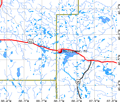 Michigamme, MI map