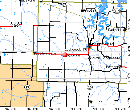 Lockwood, MO map