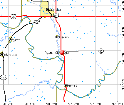 Ryan, OK map
