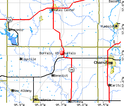 Buffalo, KS map