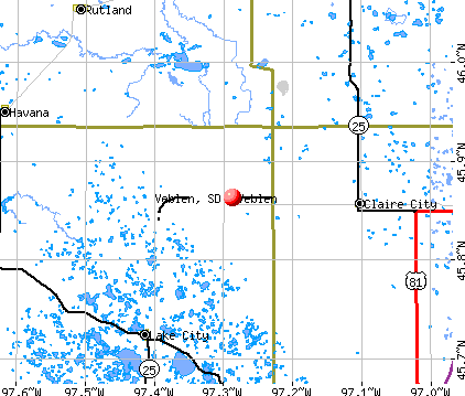 Veblen, SD map