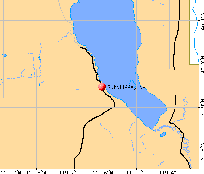 Sutcliffe, NV map