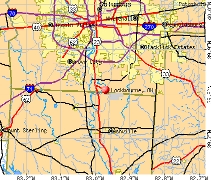 Lockbourne, OH map