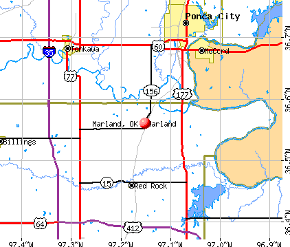 Marland, OK map