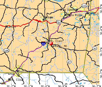 Parkway, MO map