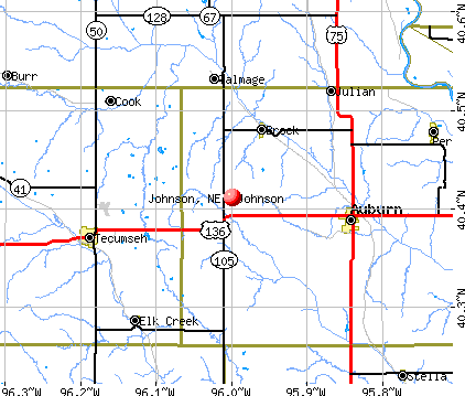 Johnson, NE map