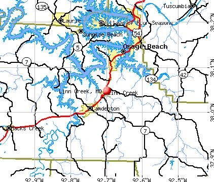 Linn Creek, MO map