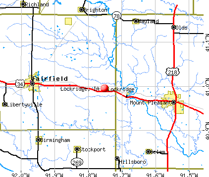 Lockridge, IA map