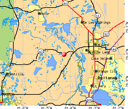 Lake Mack-Forest Hills, FL map